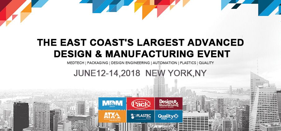 Meet us at MD&M East 2018 Booth #556